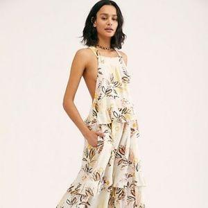Free People Anita Printed Maxi Dress in Ivory